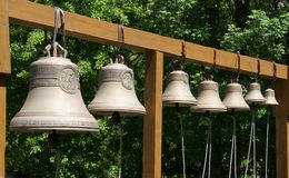Bells are ringing at the temple in the forest Royalty Free Stock Photos