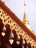 Bells at roof of pavillion in Chiangmai Stock Images