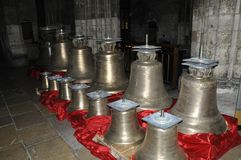 Bells of Rouen cathedral France Stock Photos