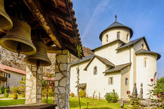Bells by the Serbian Orthodox Monastery Moraca, Kolasin,Monteneg Stock Images
