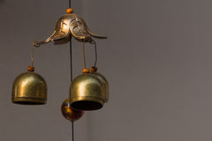 Bells. Small bells hang on rope in the temple Royalty Free Stock Photography