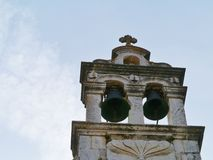 The bells of the Sv Roca in Stari Grad in Croatia Royalty Free Stock Images