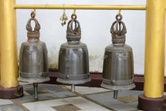 Bells in temple Stock Image