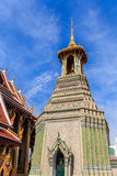 Bells in Temple. Belltower the Grand Palace, Wat Phra Kaew in Bangkok in Thailand , many tourists attractions . From all over the world come to visit and enjoy royalty free stock photography