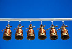 Bells in Temple of Thailand Royalty Free Stock Photography
