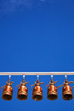 Bells in Temple of Thailand Stock Images