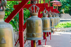 The bells in thai temple. On Thailand Royalty Free Stock Photography