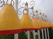 Bells at Thai temple Stock Photo
