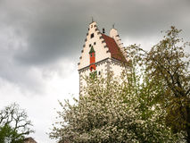 Bells tower. Bad Waldsee, Germany: Bells tower of the town near the lake in the park Royalty Free Stock Photography