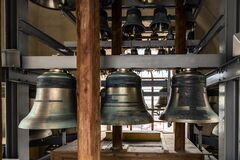 Bells Tower. Old Church Bronze Bell. Royalty Free Stock Images