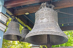 Bells of Trinity Monastery, Kyiv, Ukraine Royalty Free Stock Images