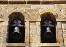 Bells. Two bells in the facade of a church Stock Image