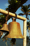 Bells under palms Royalty Free Stock Photo