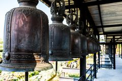 Bells used to strike for good luck royalty free stock images