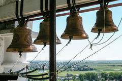 Bells of the Venerable bell tower, Russia, Suzdal stock photo