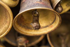 Bells on the wall of the Holy Temple. Stock Images