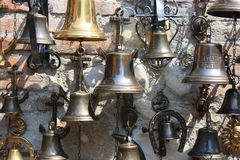 Bells on a wall Royalty Free Stock Photo