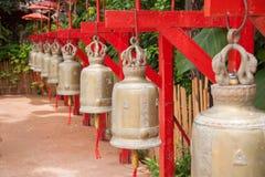 Bells in Wat Phan Tao, Chiang Mai, Thailand Stock Image