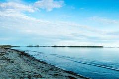 Bellsdownes Islands from Shallow Bay, Gros Morne, National Park, Newfoundland, Canada stock images