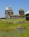 belltower教会墓地海岛preobrazhenskiy卡累利阿的kizhi 库存照片