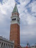 Башня колокольни в Венеции Стоковое Изображение