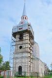 Belltower Annunciation του καθεδρικού ναού σε Shlisselburg, Ρωσία Στοκ Εικόνες