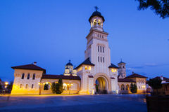 Belltower of Archiepiscopal Cathedral, Alba Iulia Royalty Free Stock Images