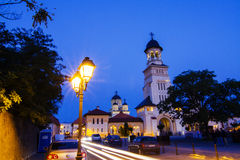 Belltower of Archiepiscopal Cathedral, Alba Iulia Royalty Free Stock Photos
