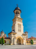 Belltower of Archiepiscopal Cathedral, Alba Iulia Royalty Free Stock Photo