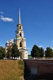 Belltower and Assumption Cathedral in the Kremlin in Ryazan city Royalty Free Stock Photo