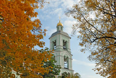 Belltower and autumn foliage Royalty Free Stock Photography