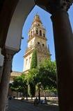 Belltower av domkyrkamoskén av Cordoba, Spanien royaltyfri bild