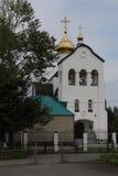 Belltower av kyrkan av Xenia Petersburg Arkivfoto