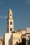 Belltower in Bari. Belltower of cathedral S. Sebino in Bari royalty free stock photo