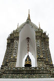 Belltower. The bell tower in wat po in thailand Stock Photos