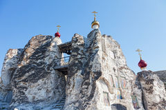 Belltower of a cave monastery Royalty Free Stock Photography