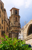 Belltower of Church of the Assumption in Calaceite Royalty Free Stock Images
