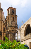 Belltower of Church of the Assumption in  Calaceite,  Teruel Royalty Free Stock Photography