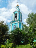 The belltower of the church.of the Nativity Of The Blessed Virgin Mary (19th century). The belltower of church.of the Nativity Of The Blessed Virgin Mary (19th royalty free stock image
