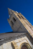 The belltower of church of Notre-Dame in La Grave, France Royalty Free Stock Photo