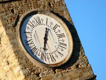 Belltower clocks Stock Images