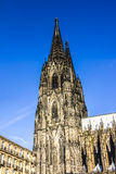 Belltower of cologne cathedral Royalty Free Stock Photography