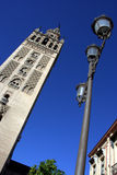 Belltower da catedral de Giralda do La em Sevilha Imagem de Stock