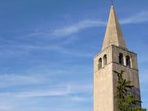 Belltower dans Porec Croatie Photos stock