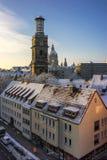 Belltower de Aegidienkirche en Hannover, Alemania Imagenes de archivo