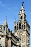 Belltower de cathédrale de Giralda de La en Séville Image libre de droits