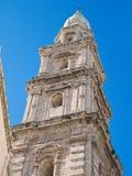 Belltower de cathédrale de Monopoli. Apulia. Images libres de droits