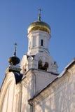 Belltower de cathédrale de Nikolsky, Rogachevo, Russie Images stock