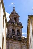 Belltower de cathédrale de Santiago de Compostela photographie stock