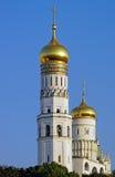 Belltower de l'Ivan le grand à Moscou Kremlin Images libres de droits